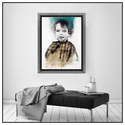Jim Dine, 'Jim Dine Watercolor Painting Original Signed Large Child Self Portrait Artwork', 1996