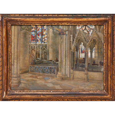 Louis Comfort Tiffany, 'Untitled painting (Christ Church, Oxford, England)', 1912