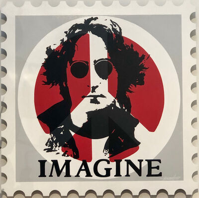 Boudro, 'John Lennon Peace (Stamp)'