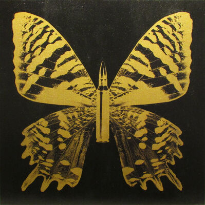 Rubem Robierb, 'Gold Butterfly III on Black', 2017