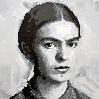 Rob and Nick Carter, 'Frida Kahlo Robot Painting, Painting time: 19:31:28 Stroke count: 6,080 25-26 January 2020', 2020
