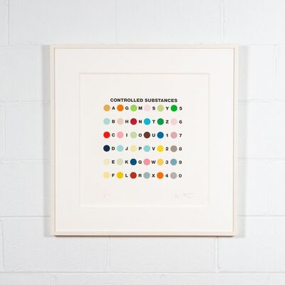 Damien Hirst, 'Controlled Substances Key Spot (Meprobamate): one plate', 2011