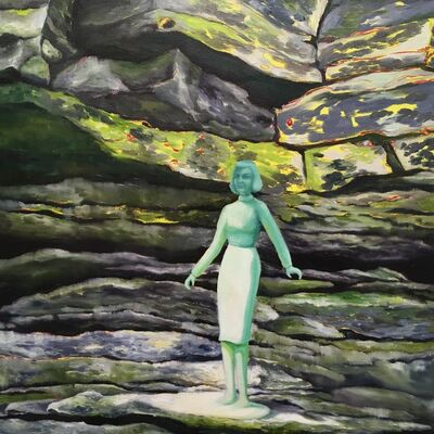 Kendra Lynn Bulgrin, 'Green Woman & Rocks', 2017
