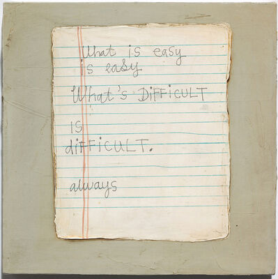 Squeak Carnwath, 'Easy is Easy', 2009