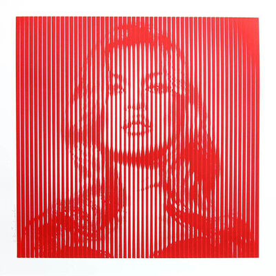 Mr. Brainwash, 'FAME MOSS (RED ON RED)', 2015