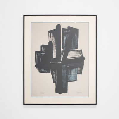 Pierre Soulages, 'Cross (Lithograph No 4)', 1957