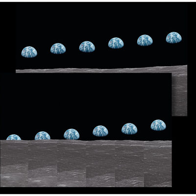 TASCHEN, 'Buzz Aldrin Print: Apollo 11 Earthrise Sequence Diptych', 2019