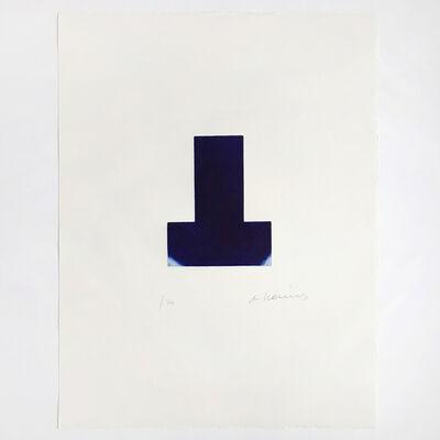 Arnulf Rainer, 'Blaue Scharte', 2001