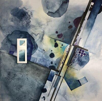 Cecilia Villanueva, 'Basalt Factory, blue, aerial view, grey Impossible Architecture, environmentalist, climate change', 2019