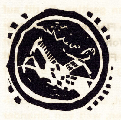 Wassily Kandinsky, 'Vignette bei 'Blätter'', 1911