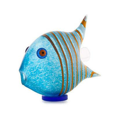 Borowski Glass, 'Angel Fish - Medium | Blue | 24-04-05', 2020