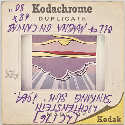 Sebastian Riemer, 'Kodachrome DUPLICATE MADE BY Kodak LC176 LICHTENSTEIN. 'SINKING SUN' 1964. OIL & MAGNA ON CANVAS 68'x80', 2019