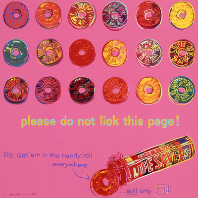 "Andy Warhol, 'Life Savers from ""Ads"" portfolio', 1985"