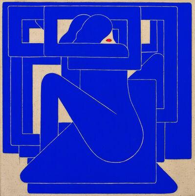 Richard Colman, 'Untitled, (Blue Figure, Red Eye)', 2018