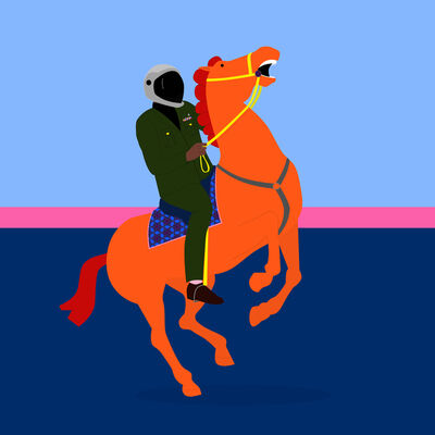 Dennis Osadebe, 'Nigerian soldier on a horse', 2018