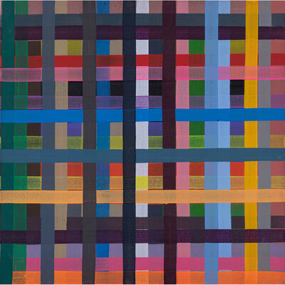 Gary Lang, 'Plaid painting', 1989
