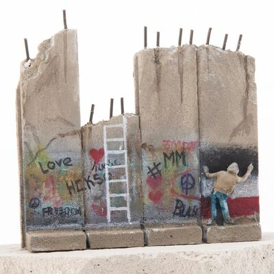 Banksy, 'SUMMER SALE / BANKSY Walled Off Hotel Wall Sculpture / ESCAPISM - WALL LADDER (2019-2020)', 2019-2020