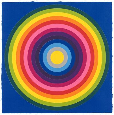 Polly Apfelbaum, 'Sun Target, Blue', 2019