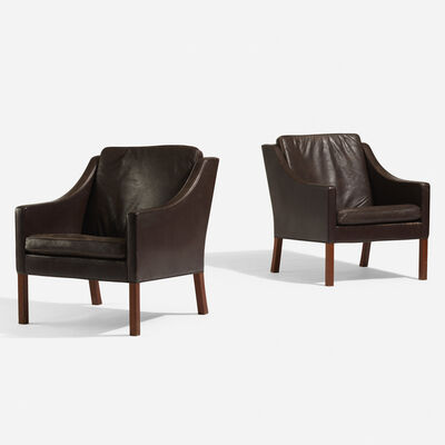 Börge Mogensen, 'Lounge chairs, pair', 1963