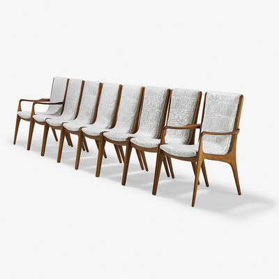 Vladimir Kagan, 'Set of eight Sculpted Sling dining chairs (VK-101 and 102), two arm- and six side, New York'