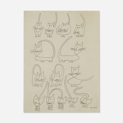 Saul Steinberg, 'Untitled (Cats)'