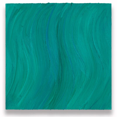 Jason Martin, 'Untitled (Caribbean blue / Zinc green deep)', 2020