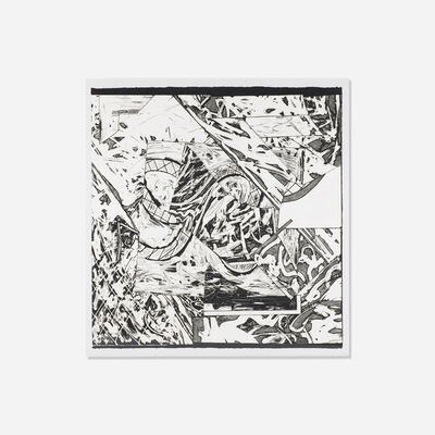 Frank Stella, 'Swan Engraving Square I (Swan Engraving V) from the Swan Engraving series', 1982