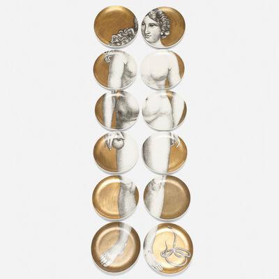 Piero Fornasetti, 'Eva plates, set of twelve', 1954