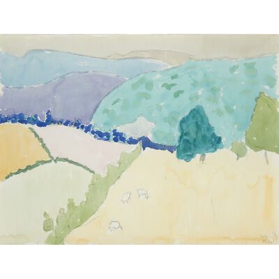 Sally Michel Avery, 'Mountain Landscape with Sheep', 1987