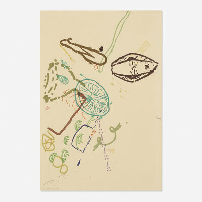John Cage, '30 Drawings by Thoreau (from the Merce Cunningham portfolio)', 1974