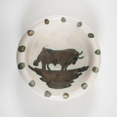 Pablo Picasso, 'Coupe, figure au taureau', 1952