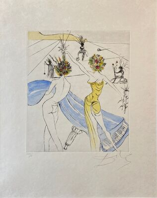 Salvador Dalí, 'Hippies Suite: Flower Women with Soft Piano - Femmes Fleurs au Piano ', 1969-1970