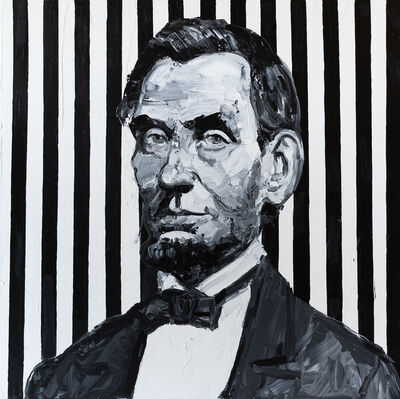 Hunt Slonem, 'Abraham Lincoln', 2020
