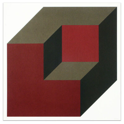 Sol LeWitt, 'Forms Derived from a Cube (Colors Superimposed), Plate #09', 1991