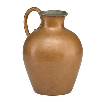 Dirk Van Erp, 'Hammered copper pitcher with tin interior', ca. 1912