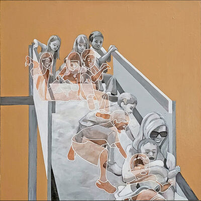 Nancy Watterson Scharf, 'Deconstructing The Future: Orange', 2020