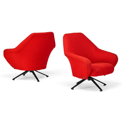 Osvaldo Borsani, 'Pair of P32 lounge chairs, Italy', 1950s