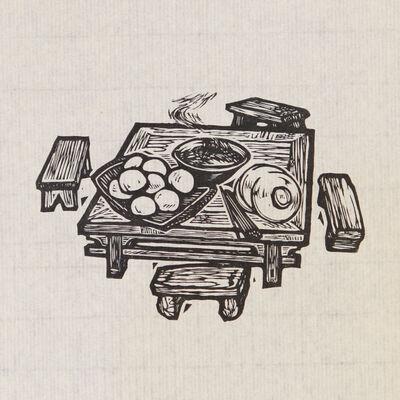 Xu Bing 徐冰, 'Farmhouse Meal 农家饭', 1979