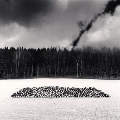 Michael Kenna, 'Woodpile, Karlstejn, Czechoslovakia', 1990