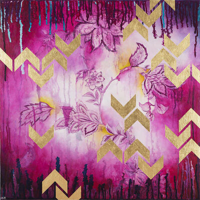 Heather Robinson, 'Chevrons (Fuchsia)', 2019
