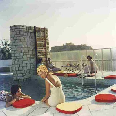 Slim Aarons, 'Penthouse Pool', 1961