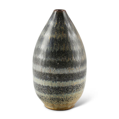 Arthur Andersson, 'Modernist vase with hatch effect banding ', 1950