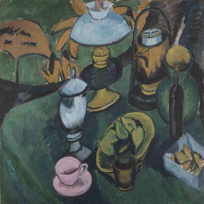 Ernst Ludwig Kirchner, 'Stilleben mit lampe', 1912