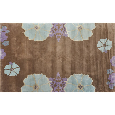 "The Rug Company, 'Flat weave ""Harem"" room-sized rug, with stylized  floral border'"