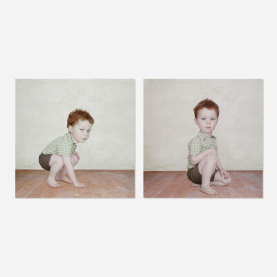 Loretta Lux, 'Study of a Boy 1 and Study of a Boy 2 (two works)', 2002