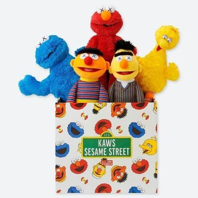 KAWS, 'KAWS x Sesame Street (complete set of 5 with box) ', 2018