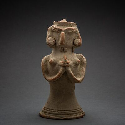 Unknown Asian, 'Indus Valley Terracotta Figurine of a Standing Fertility Goddess', 2800 BCE-2600 BCE