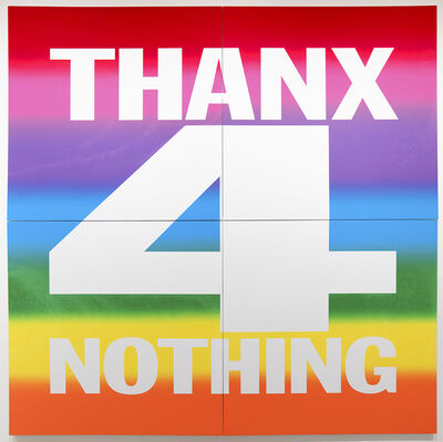 John Giorno, 'THANX 4 NOTHING', 2019