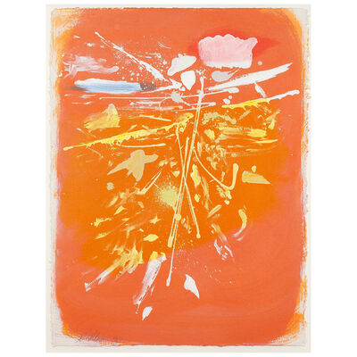 Dan Christensen, 'Untitled (Orange Rush)', 1981