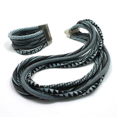 Jacqueline Lillie, 'Neckpiece and Bracelet | Black and Blue', 2008